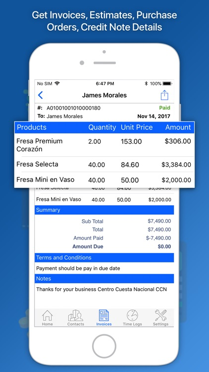 Moon Invoice – Easy Invoicing screenshot-4