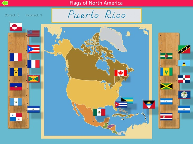 Flags of north america montessori geography on the app store flags of north america montessori geography on the app store gumiabroncs Images
