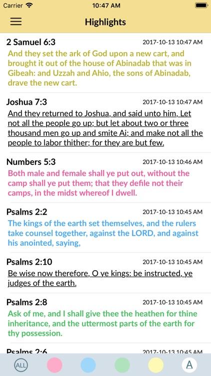 Holy Bible - King James Audio screenshot-3