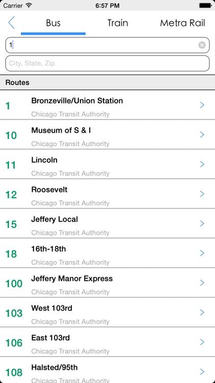 Transit Tracker - Chicago screenshot-4