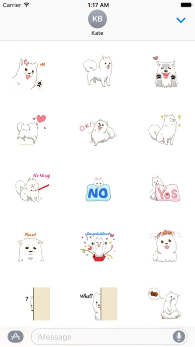 Laika The Samoyed Dog Sticker screenshot 1