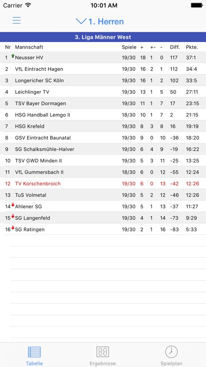 TV Korschenbroich Handball screenshot-4