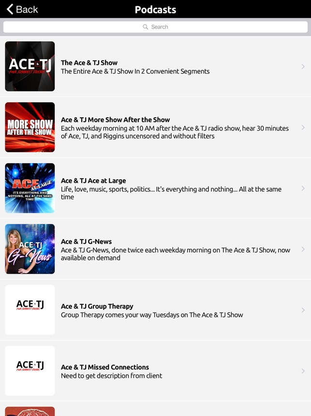 Ace and TJ Show on the App Store