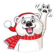 Christmas Ted Frosty Sticker