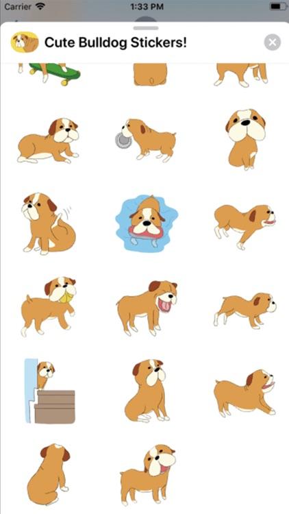Cute Bulldog Stickers ! screenshot-3