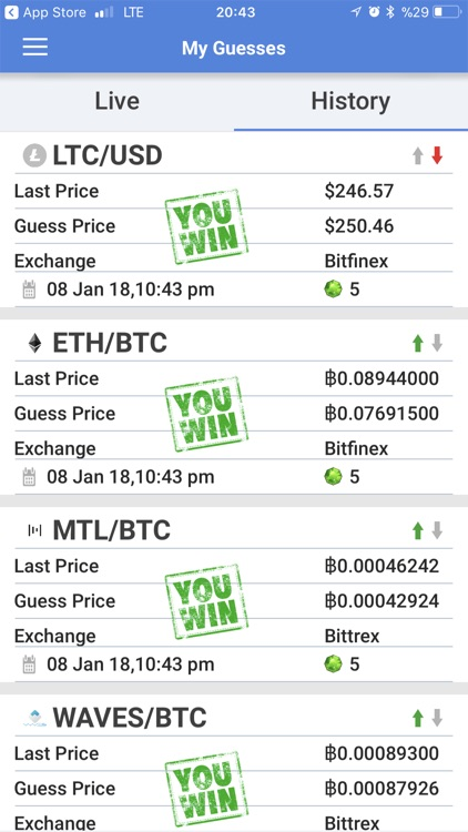 peerguess: cryptocoin ticker screenshot-3