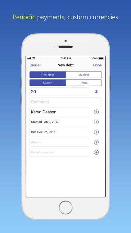 IOU - debt manager screenshot-4