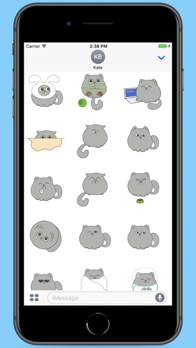 Screenshot for Circle Grey Kitty Stickers in Colombia App Store