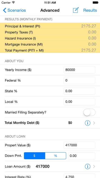 Loan Calculator & Tax Savings screenshot-1