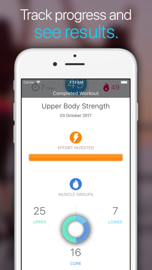 ‎7 Minute Workout by Wonder Screenshot