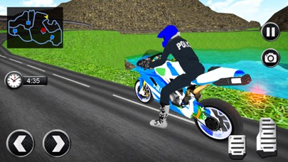 OffRoad Police Bike Transport Simulator App 截图