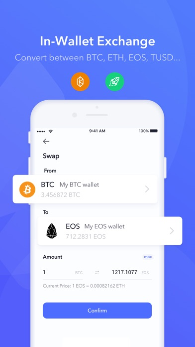 Screenshot of Secrypto - Blockchain Wallet App