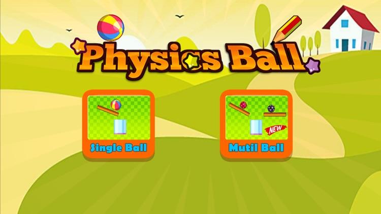 Physics Draw Line: Happy Ball screenshot-0