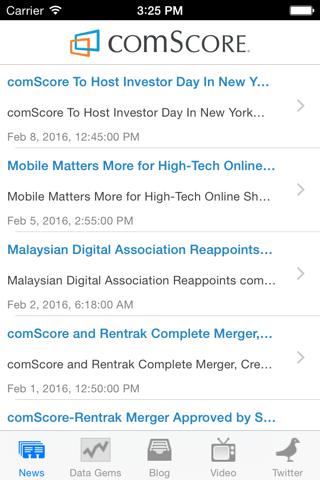 comScore News - náhled