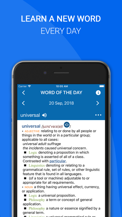Screenshot for Oxford English Dictionary 2018 in Jordan App Store