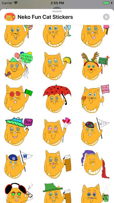 Neko Fun Cat Stickers screenshot three