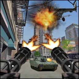 Army Tank Shooting Attack