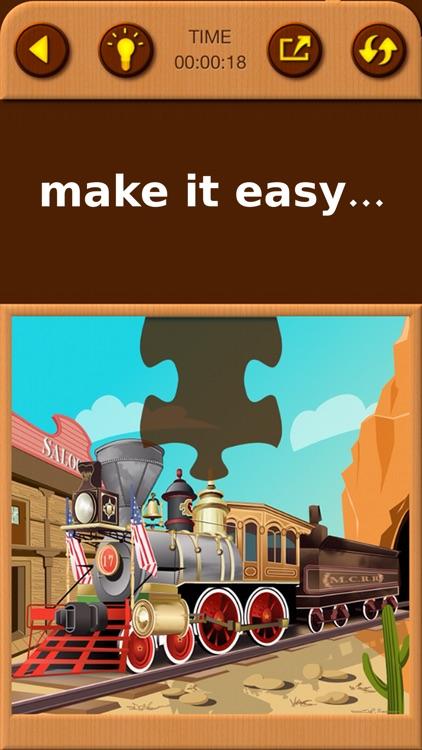 Train Jigsaw Puzzles for Kids screenshot-3