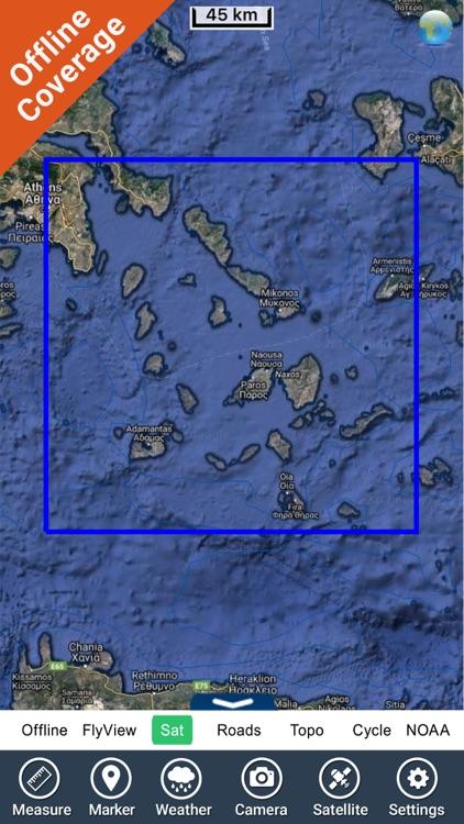 Cyclades charts GPS maps Navigator screenshot-4