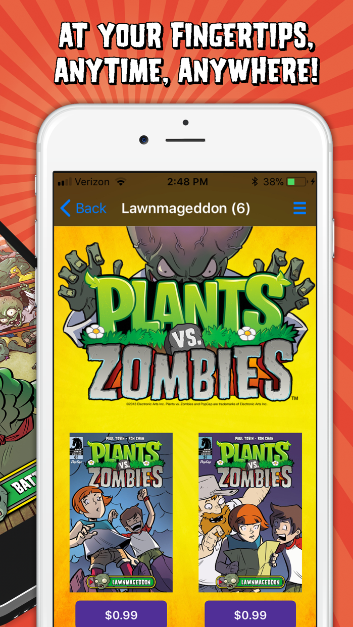 Plants vs Zombies Comics Screenshot