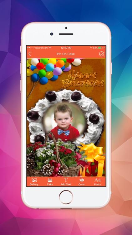 Name and Photo on Birthday Cakes screenshot-3