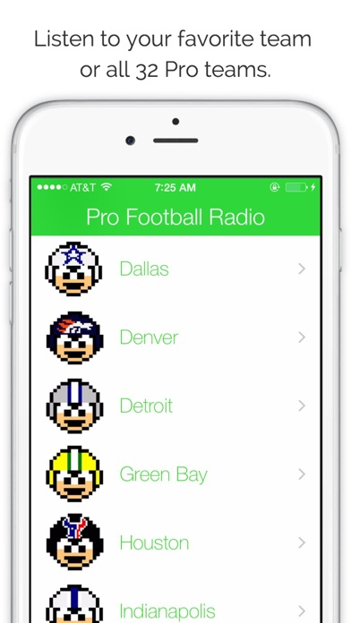 GameDay Pro Football Radio Screenshots