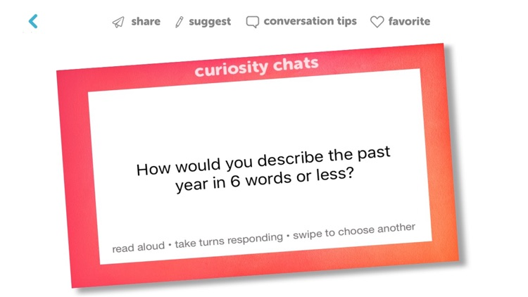 Curiosity Chats