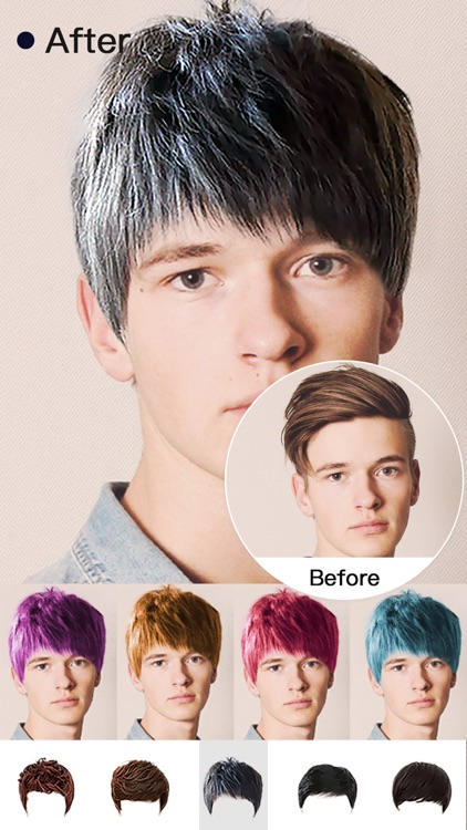 Hair Style Salon&Color Changer screenshot-2