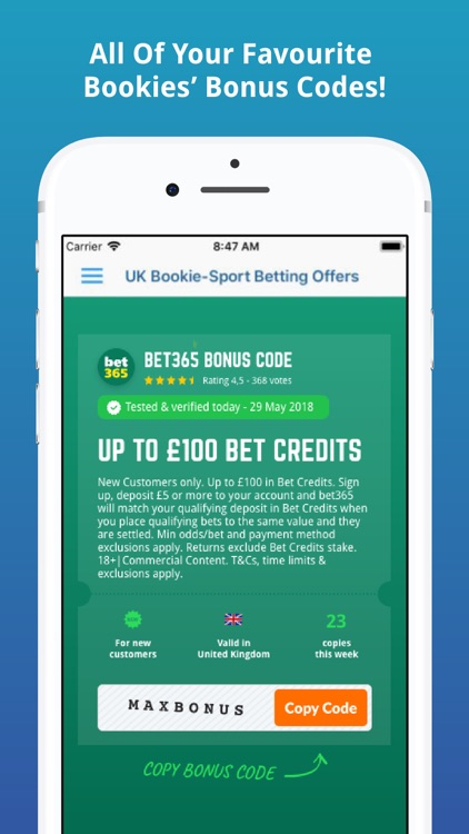 UK Bookie-Sport Betting Offers screenshot-4