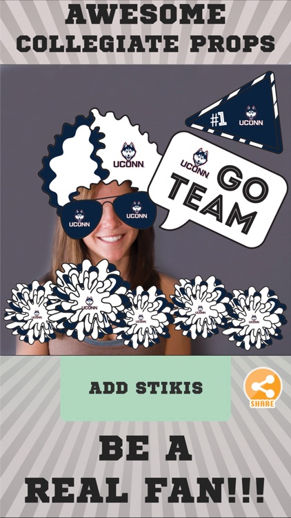UConn Huskies Selfie Stickers screenshot-1