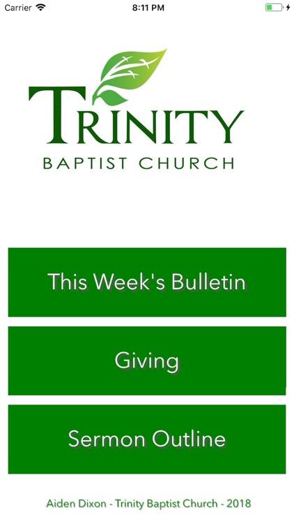 Trinity Baptist Bulletin by Aiden Dixon