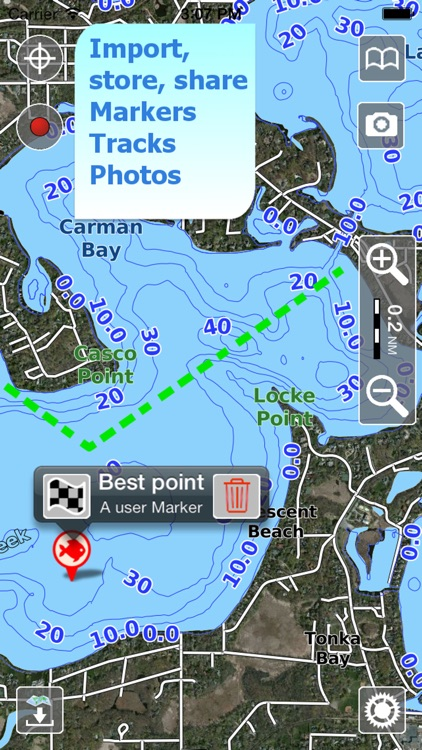 Aqua Map Maine Lakes GPS screenshot-3