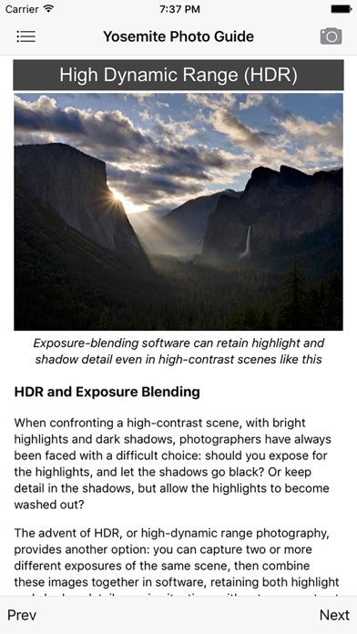 Yosemite Photographers Guide review screenshots