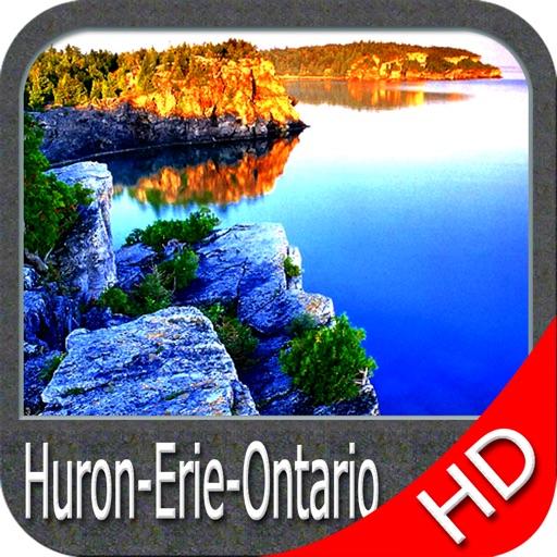 Huron Erie Ontario HD Charts