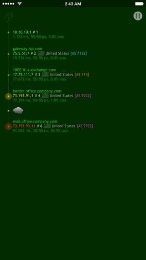 Nice Trace - Traceroute Screenshot