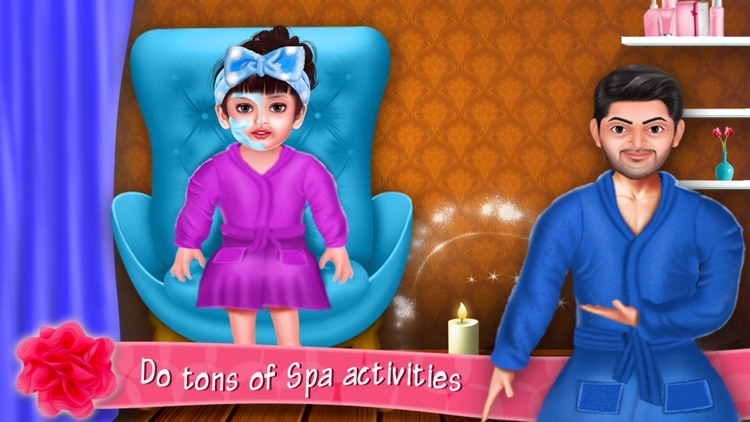Aadhya's Spa Makeover Day With Daddy screenshot-4