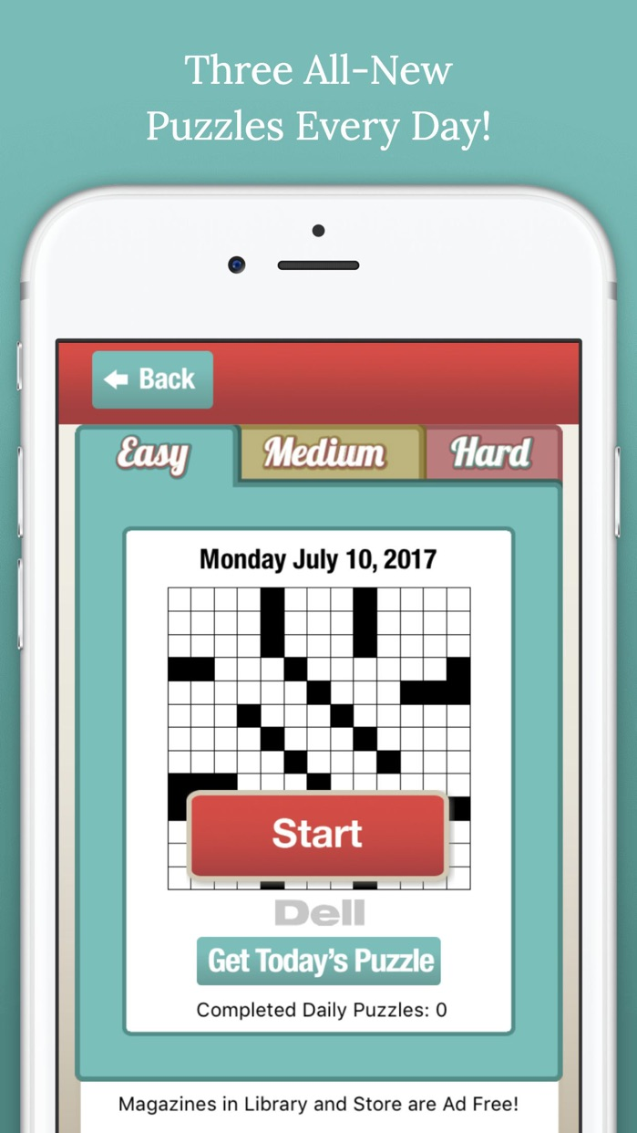 Penny Dell Crossword – Three Daily Puzzles Screenshot