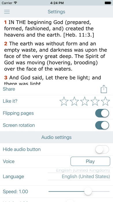 Screenshot for Amplified Bible with Audio in United States App Store