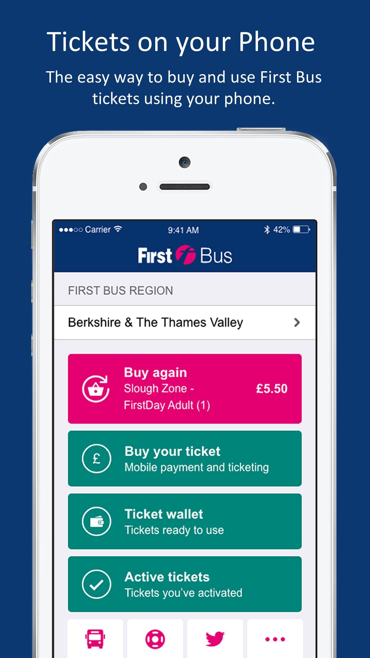 First Bus m-Tickets Screenshot