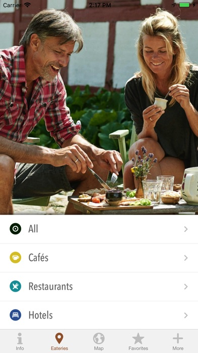 Organic eateries in Denmark screenshot 2