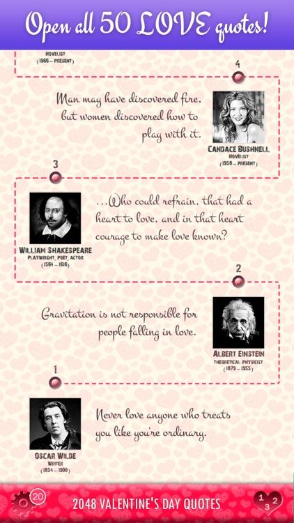 2048 Valentine's Day Quotes screenshot-0