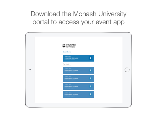Monash University Events Portal screenshot 4