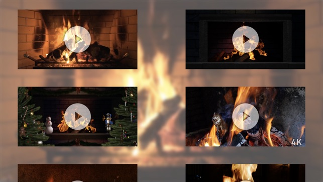 winter fireplace on the app store