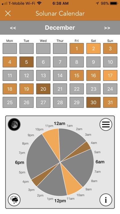Best Hunting Times Calendar screenshot-0