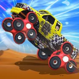 Fidget Spinner Monster Truck Race