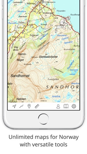 Topo maps Norway on the App Store