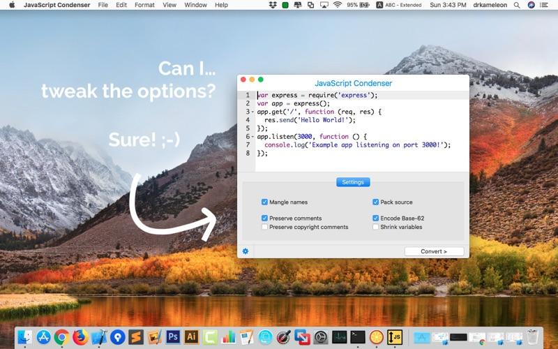 Javascript Condenser review screenshots