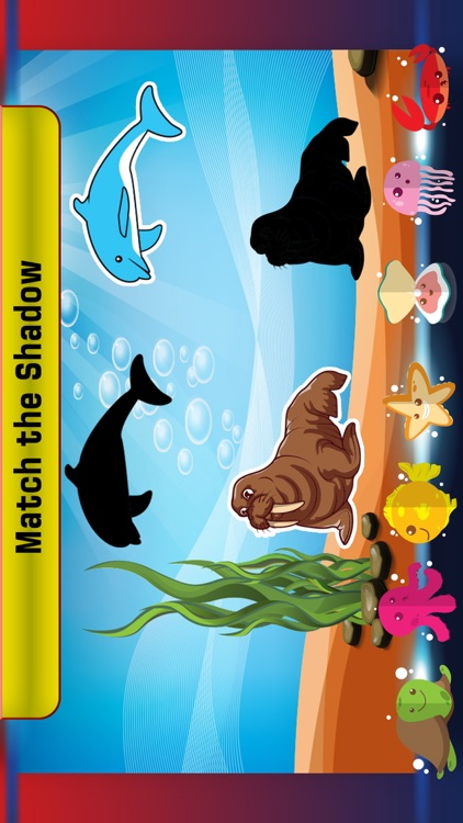 Preschool learning sea fish