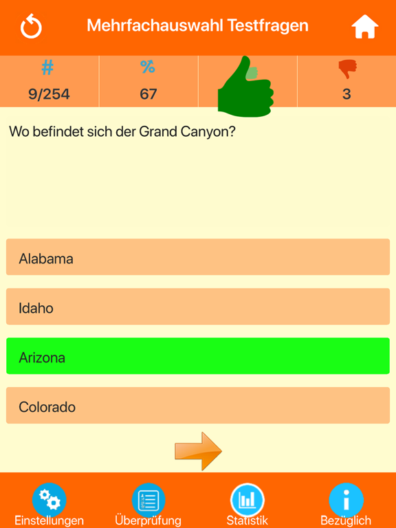 USA Wissenstest Quiz screenshot 7