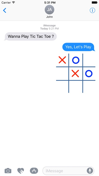 Tic Tac Toe (OX) GIF For Messages